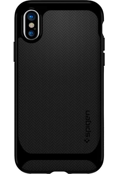Spigen Apple iPhone XS / iPhone X Kılıf Neo Hybrid Jet Black - 057CS22166