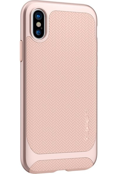 Spigen Apple iPhone XS / iPhone X Kılıf Neo Hybrid Pale Dogwood - 057CS22169