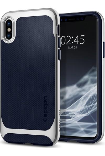 Spigen Apple iPhone XS / iPhone X Kılıf Neo Hybrid Satin Silver - 057CS22167