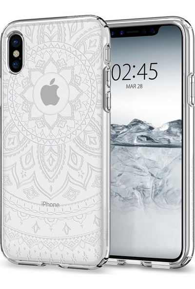 Spigen Apple iPhone XS / iPhone X Kılıf Liquid Crystal Shine Crystal Clear - 057CS22120