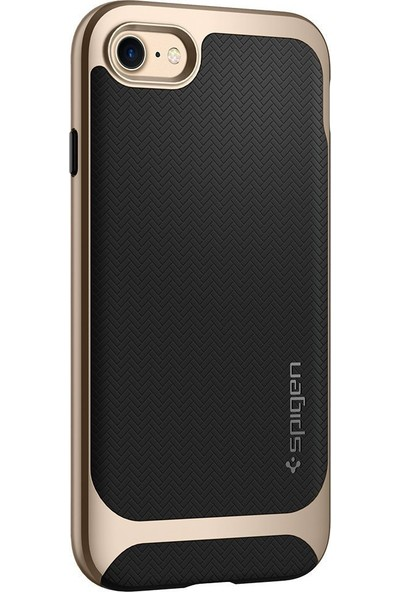 Spigen Apple iPhone SE 2020 / iPhone 8 / iPhone 7 Kılıf Neo Hybrid Herringbone Champagne Gold - 054CS22201