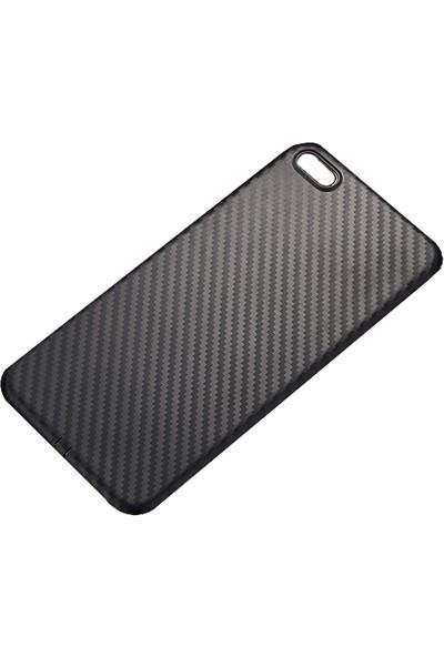 Ally Apple iPhone 6Plus 6S Plus Carbon Fiber Dokulu Yumuşak Silikon Kılıf