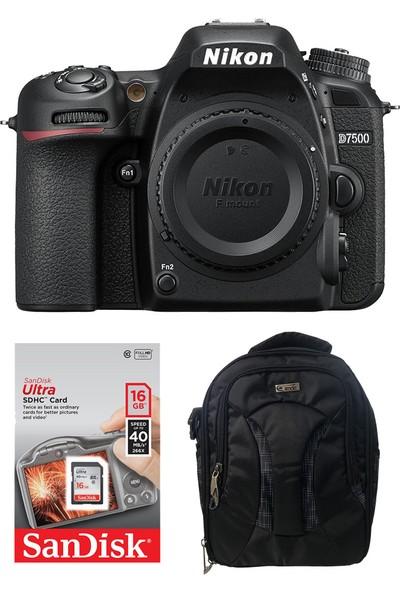 Nikon D7500 Body + Hafıza Kartı + Eye Sırt Çantası