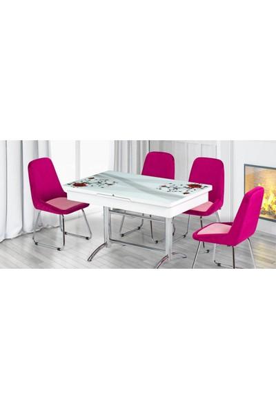Kutuphome Masa Sandalye Takımı Açılır Masa Snt 002