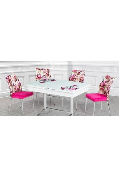Kutuphome Masa Sandalye Takımı Açılır Masa Snt003