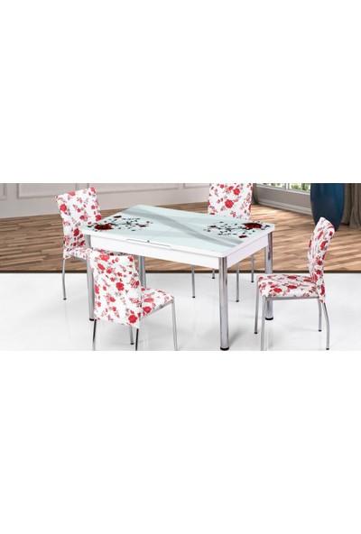 Kutuphome Masa Sandalye Takımı Açılır Masa Snt008