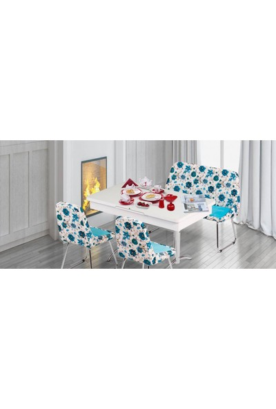 Kutuphome Masa Sandalye Takımı Açılır Masa Kuzey 003