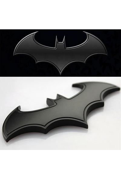 Solfera Batman Dark Knıght Siyah Metal Otomobil Stickerı 80Mm Cs040