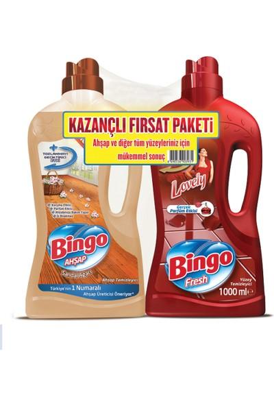 Bingo Ahşap Sandal Ağacı 1L + Bingo Fresh Lovely Yüzey Temizleyici 1L Kazançlı Fırsat Paketi