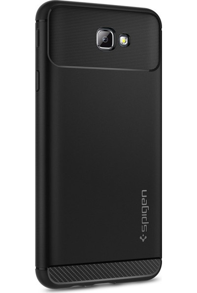 Spigen Samsung Galaxy J7 Prime - Galaxy On7 Prime Kılıf Rugged Armor Black - 570CS21002