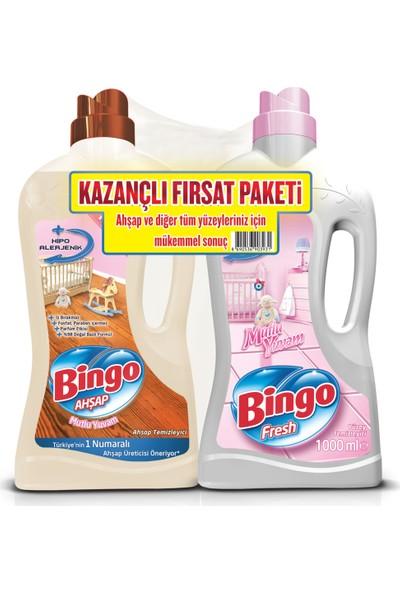 Bingo Ahşap Mutlu Yuvam 1L + Bingo Fresh Mutlu Yuvam Yüzey Temizleyici 1L Kazançlı Fırsat Paketi