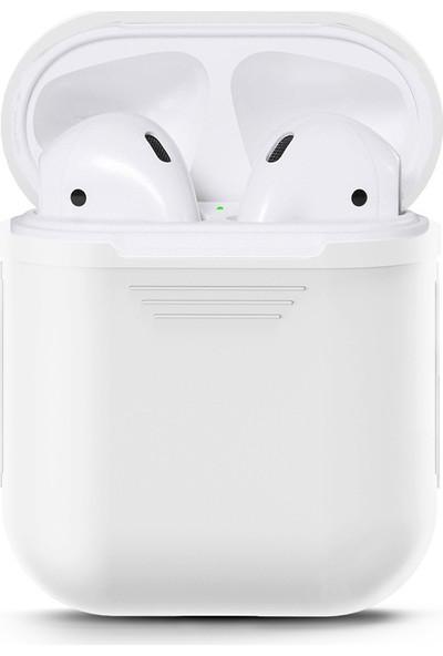 Case 4U Apple Airpods Silikon Kılıf Beyaz