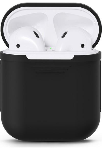 Case 4U Apple Airpods Silikon Kılıf Siyah