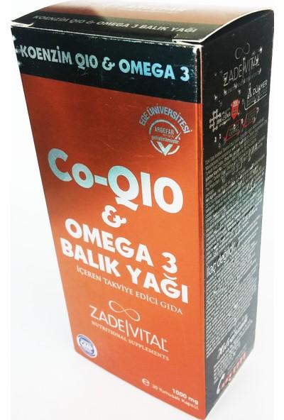 Zade Vital Koenzim Q10 Omega 3 Blister 30 Kapsül