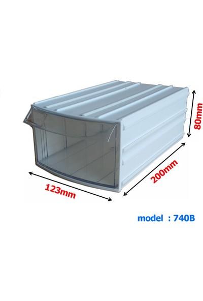 Mimbox 740 Beyaz Plastik Çekmeceli Kutu 123X200X80Mm