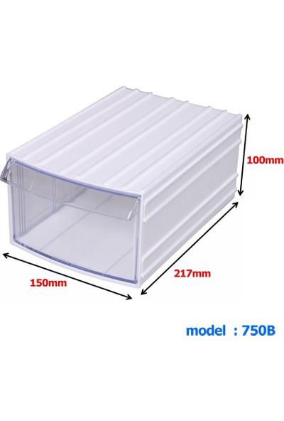 Mimbox 750 Beyaz Plastik Çekmeceli Kutu 150X217X100Mm