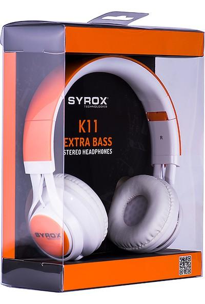 Syrox Mikrofonlu Aux Kablolu Kulaklık