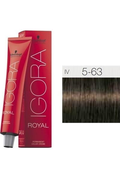 Igora Royal 5/63 - Açık Kahverengi Çikolata Mat