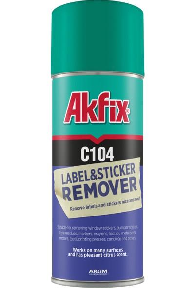 Akfix C104 Etiket ve Sticker Sökücü Sprey 200 ml