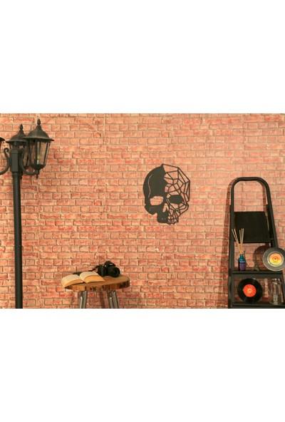 Metal Duvar Dekoru Skull