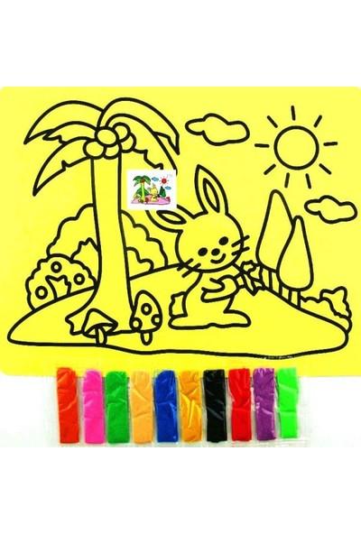 Toptancıamca Kum Boyama Seti Çocuk Eğitim Gelişim Büyük Boy A4