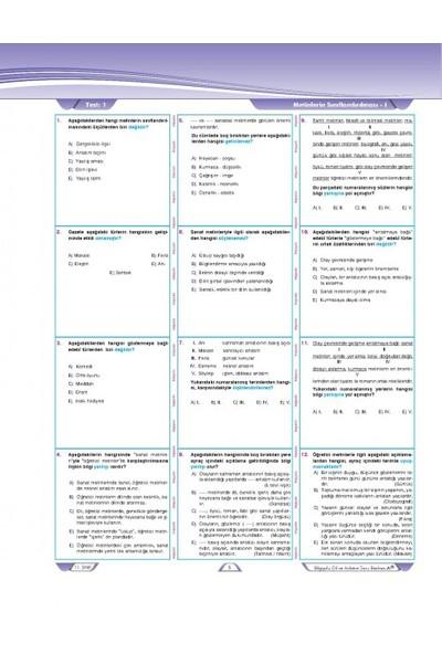 Bilgiyolu 11. Sınıf Dil Ve Anlatım Soru Bankası A(B) Temel - Orta Düzey
