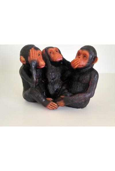 Hdm Üçlü Maymun 3 lü Maymun Biblo