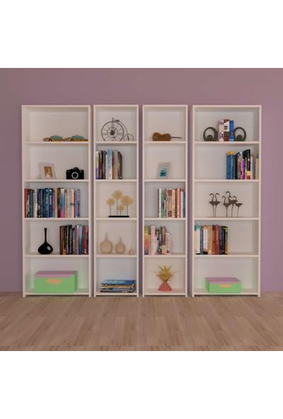 Nur Mobilya Kaliteli 4'lü Kitaplık Arkalıklı Model