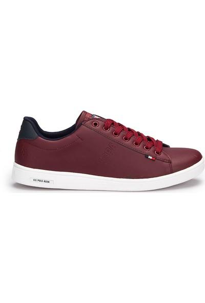 U.S. Polo Assn. Franco Bordo Erkek Sneaker Ayakkabı