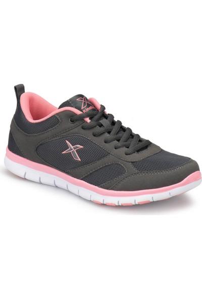Kinetix Vıtora W Koyu Gri Pembe Beyaz Kadın Fitness Ayakkabısı