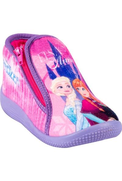 Frozen 902007 Bk Mor Kız Çocuk Panduf