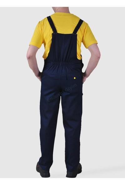 Şensel Taraftar Bahçıvan Tulum Askılı İş Tulum İş Elbisesi Sarı Lacivert
