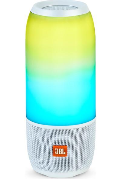 JBL Pulse3 Taşınabilir Işıklı Ipx7 Su Geçirmez Bluetooth Hoparlör Beyaz
