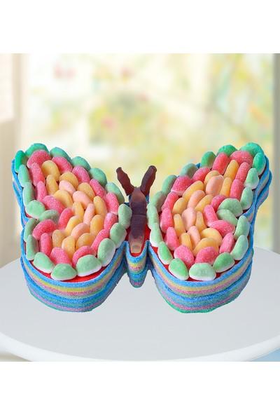 Şeker Şef Renkli Şeker Kelebek