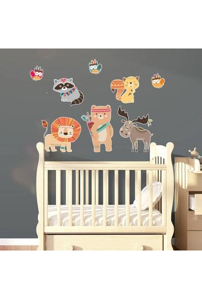 DekorLoft Sevimli Hayvanlar Çocuk Odası Sticker CS-543