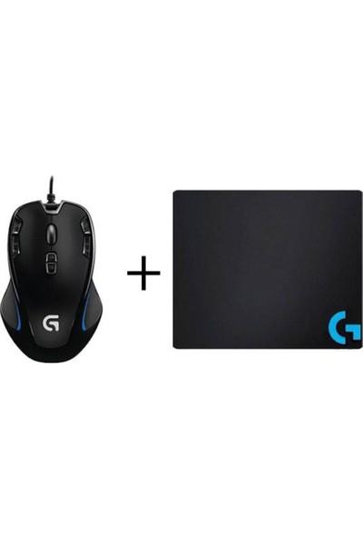 Logitech G300S Mouse+Pad+Sticker+Bardak Altlığı (