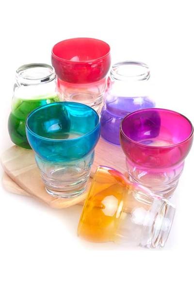 Joy Glass 6'Lı Rap 6 Renk Degrade Meşrubat Bardağı