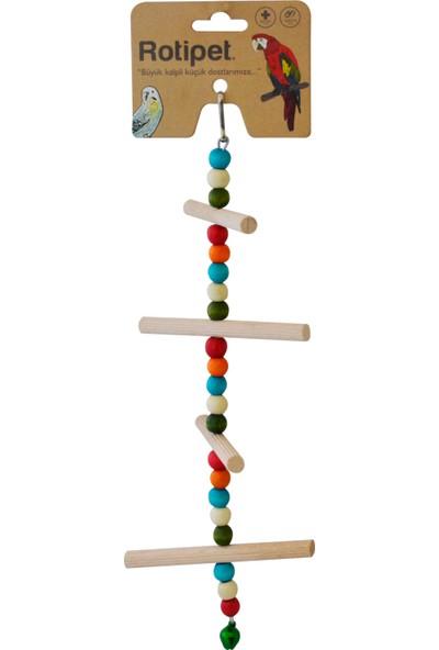 Rotipet 4 Basamaklı Fırfırlı Merdiven Kuş Oyuncağı