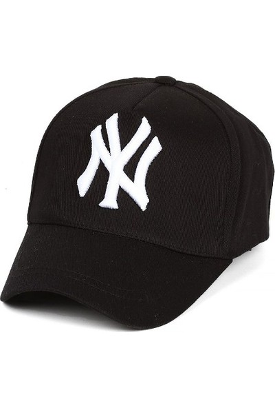 Modamarka-Shop Ny New York Unisex Hiphop Şapka Siyah Spor Kep