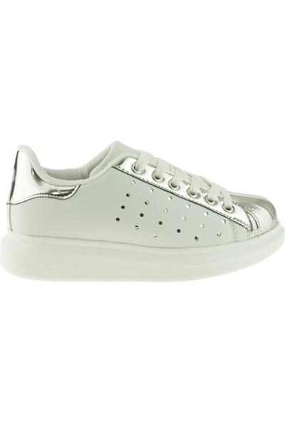 Vicco Kız Çocuk 938.V.722 Bağlı Parlak Gümüş Ayakkabı