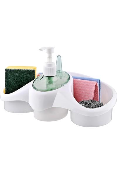 Pratik Sünger Hazneli Sıvı Sabunluk