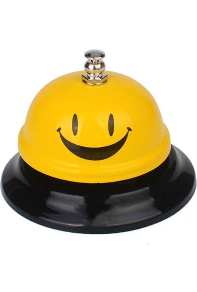 Pratik RING Masaüstü Dekoratif Resepsiyon Zili (Sarı)