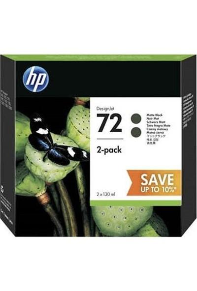 Hp 72 130Ml Black Ink Crtg 2-Pack P2V33A