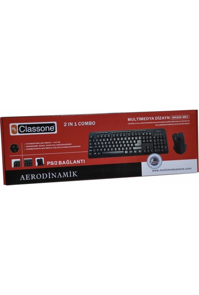 Classone F Usb Multimedya Ultra Slim Klavye, Siyah Wk628-F