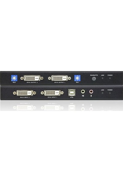 Aten Dual View Dvı Kvm (Keyboard/Video Monitor/Mouse) Mesafe Uzatma Cihaz Aten-Ce604