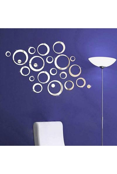 Hedef Hediyelik Dekoratif Ayna Halkalar 24 Parça