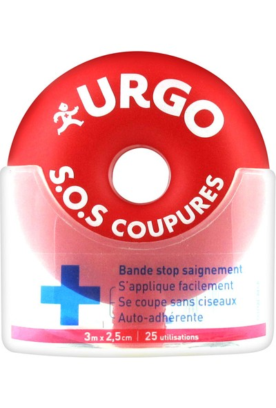 Urgo S.O.S Coupures Stop Bleeding Strip Kanamayı Durdurucu Yara Bandı 3M X 2,5Cm 25 Uygulama