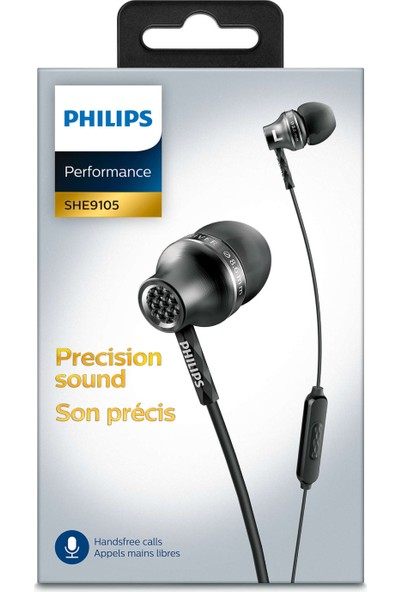 Philips She9105Bk/00 Mikrofonlu Kulakiçi Kulaklık