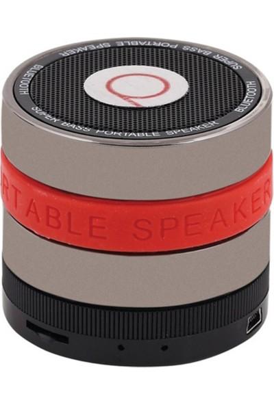 Powerway Bluetooth Speaker - Kırmızı Fm Radyo Microsd Destekli - Ses Bombası