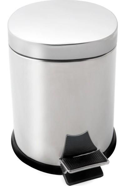 Dayco Pedallı Çöp Kovası 5 lt + Klozet Fırçası